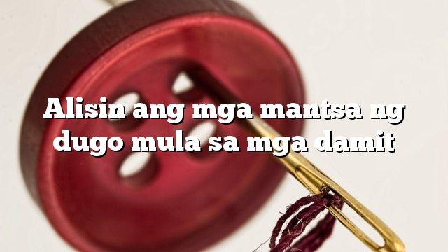 Alisin ang mga mantsa ng dugo mula sa mga damit