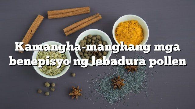 Kamangha-manghang mga benepisyo ng lebadura pollen