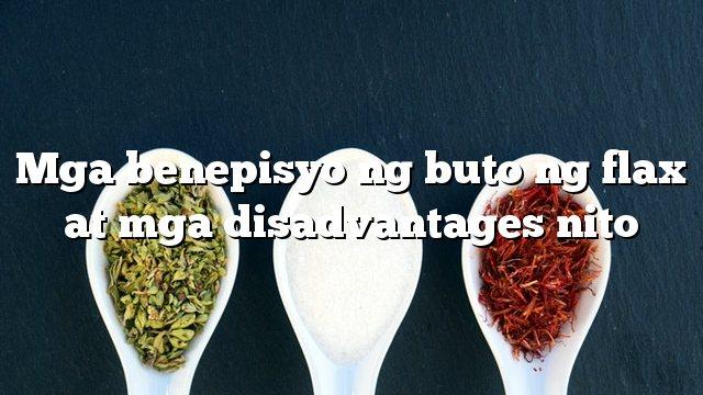 Mga benepisyo ng buto ng flax at mga disadvantages nito
