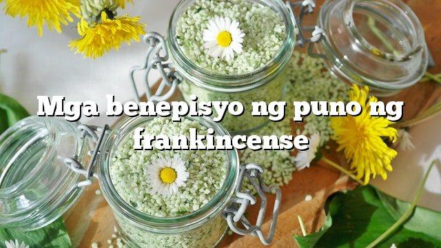 Mga benepisyo ng puno ng frankincense