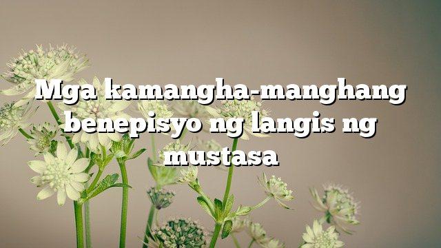 Mga kamangha-manghang benepisyo ng langis ng mustasa
