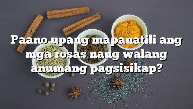 Paano upang mapanatili ang mga rosas nang walang anumang pagsisikap?